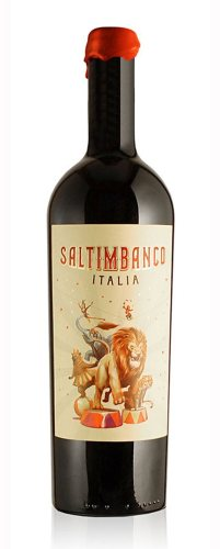 Saltimbanco creative wine label