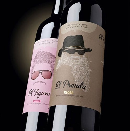 El Prenda creative wine label
