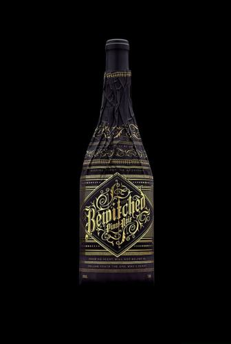 Bewitched Pinot Noir creative wine label