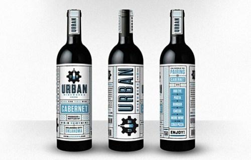 Urban Wineworks creative wine label