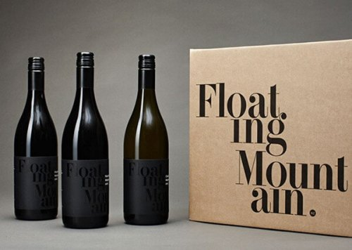 Floating Mountain's creative wine label