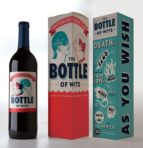 The Bottle of Wits creative wine labels