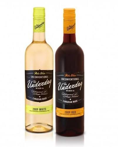 The Underdog creative wine labels
