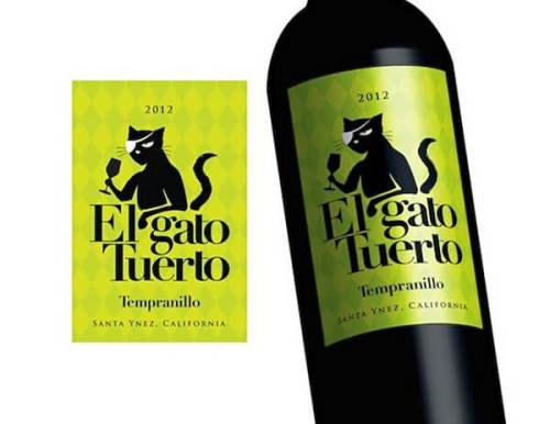 El Gato Tuerto creative wine labels