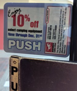 temporary promotional removable label