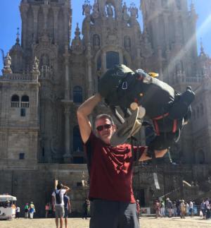Jim at Santiago de Compostela