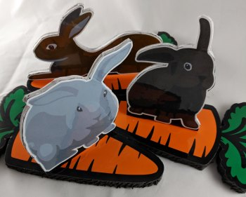 Bunnies on carrots