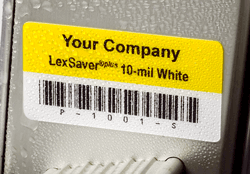 LexSaver plus asset tag outdoors in rain