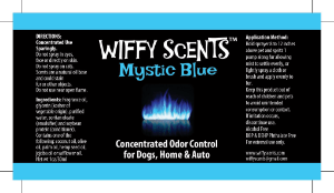 Wiffy Scents Mystic Blue label