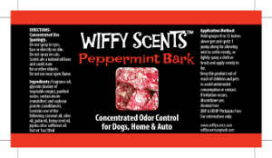 Wiffy Scents Peppermint Bark label