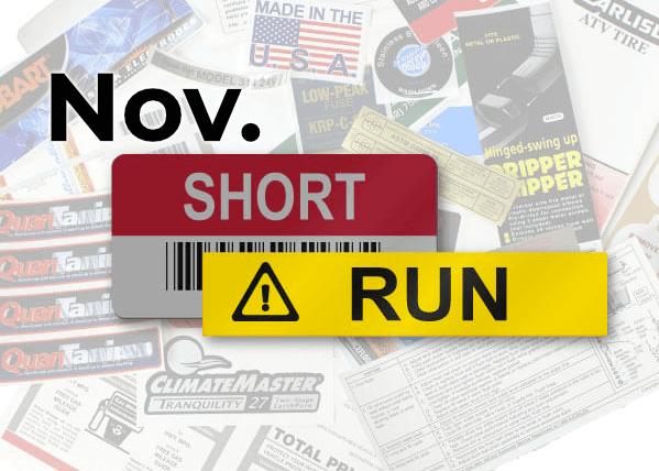 Short Run – Wins for November