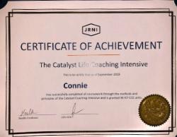 Connie's life coach cert