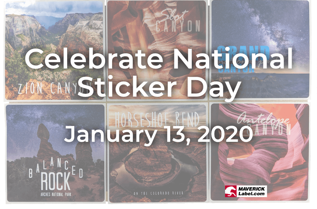 Celebrate National Sticker Day 2020