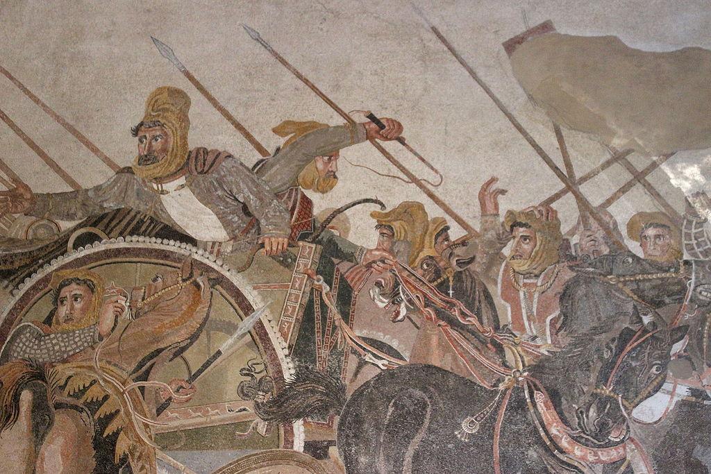 Alejandro Magno en batalla