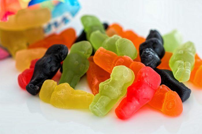 Gominolas de azúcar para niños