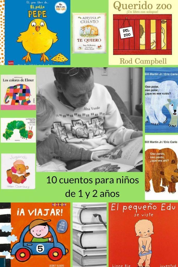 Inforgrafía con diez cuentos para niños de 1 y 2 años