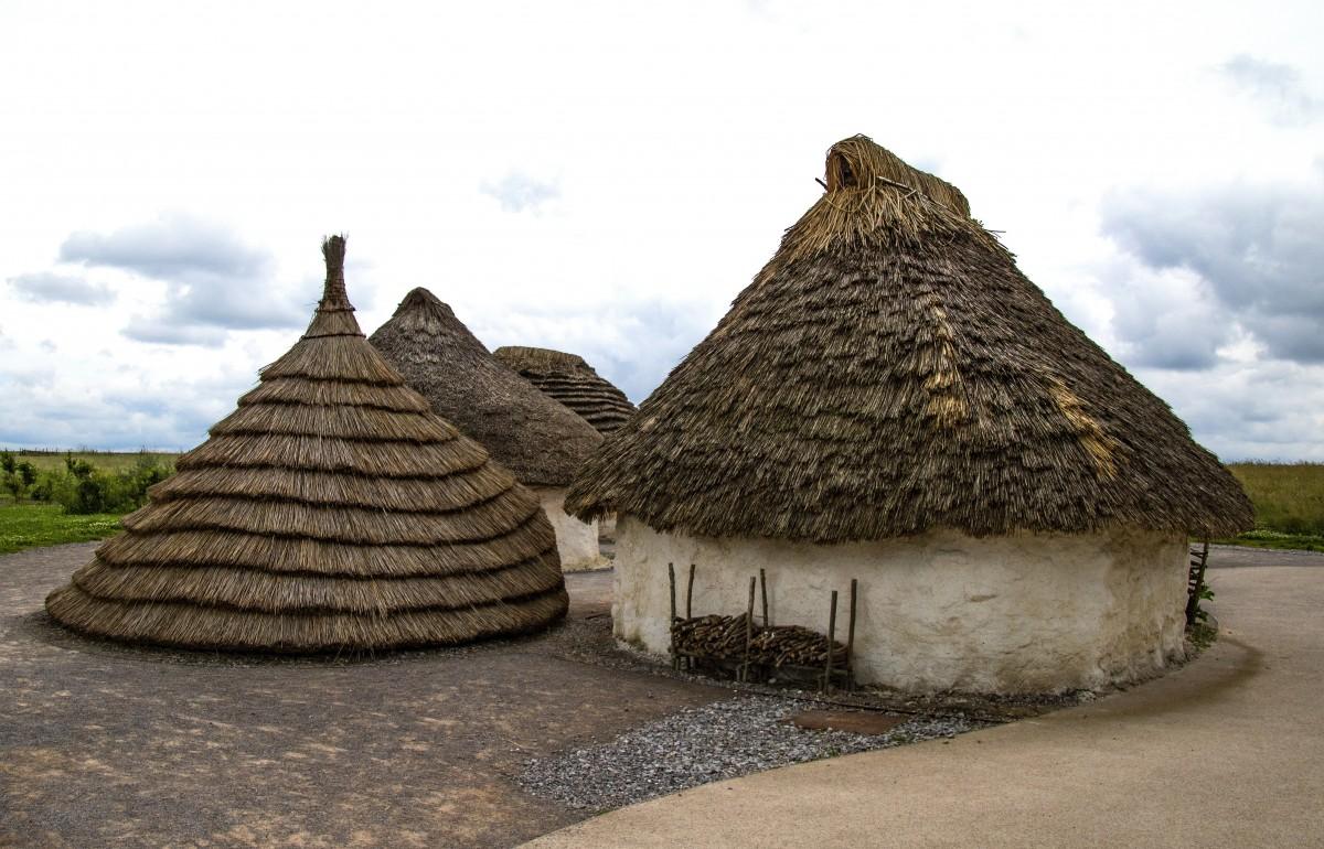 Poblado neolítico de la prehistoria