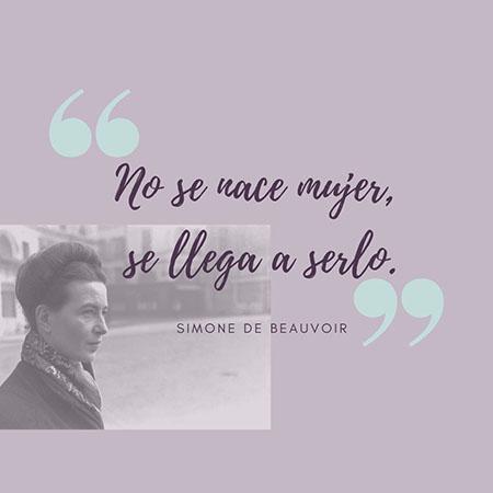 Cita sobre la mujer de Simone de Beauvoir
