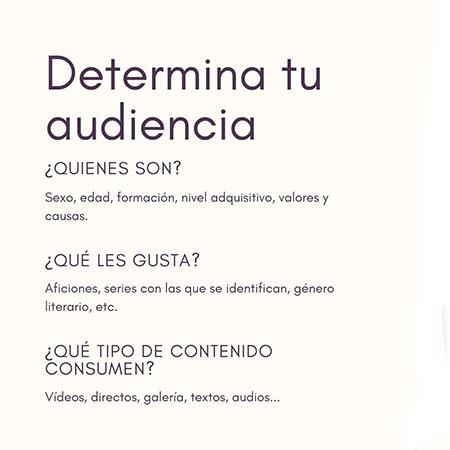 Infografía sobre cómo planificar tu contenido  conociendo a tu audiencia