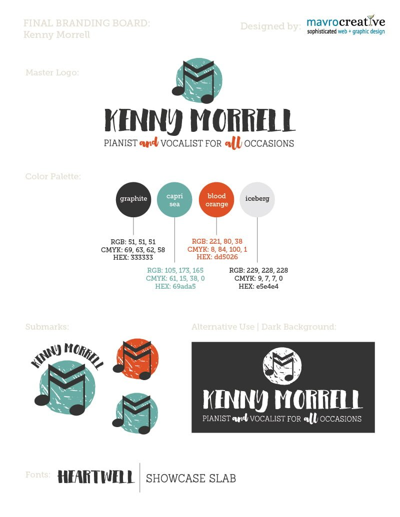 MavroCreative, Full Branding and Logo Design for Kenny Morrell
