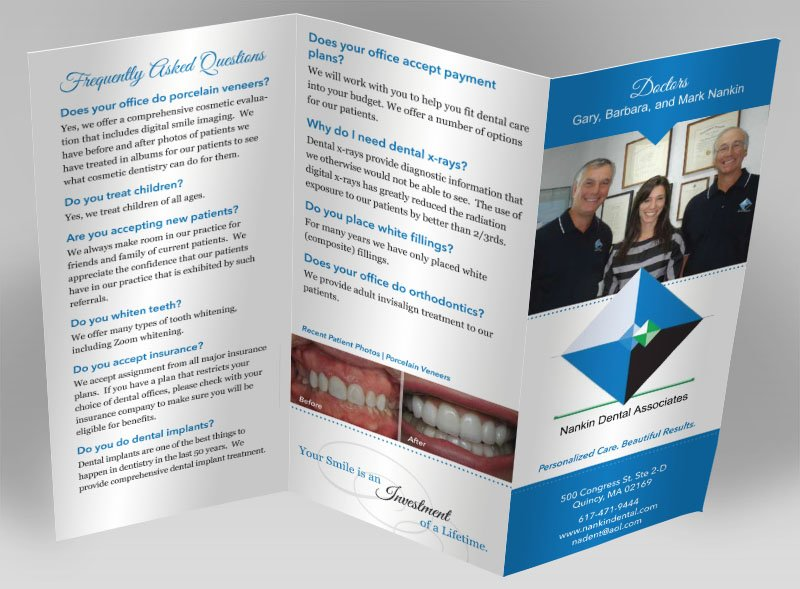 Nankin Dental Brochure Design