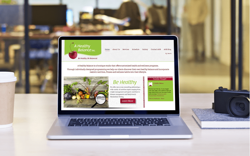 image of A Healthy Balance Web Design by MavroCreative