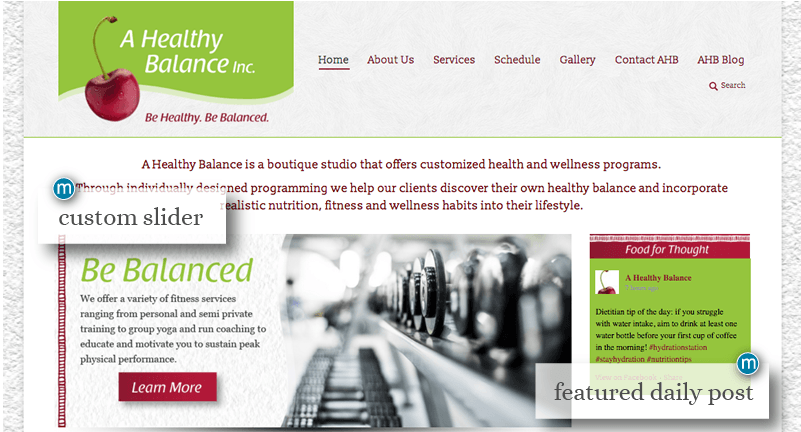 image of A Healthy Balance Website Design by MavroCreative