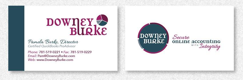 Business Card Design for DowneyBurke by MavroCreative LLC in Hingham MA