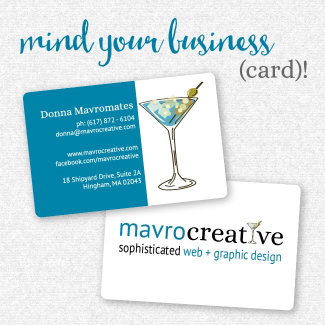 Business Card Design, MavroCreative LLC in Hingham MA
