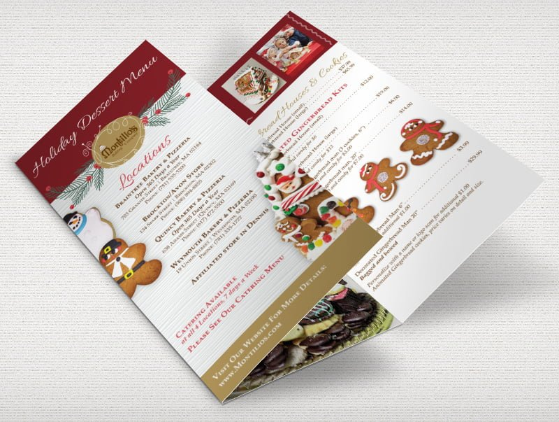 Montilio's Holiday Brochure Design