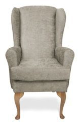 Mawcare - The Buckingham - high seat orthopedic Wingback fireside Armchair in Darcy fawn
