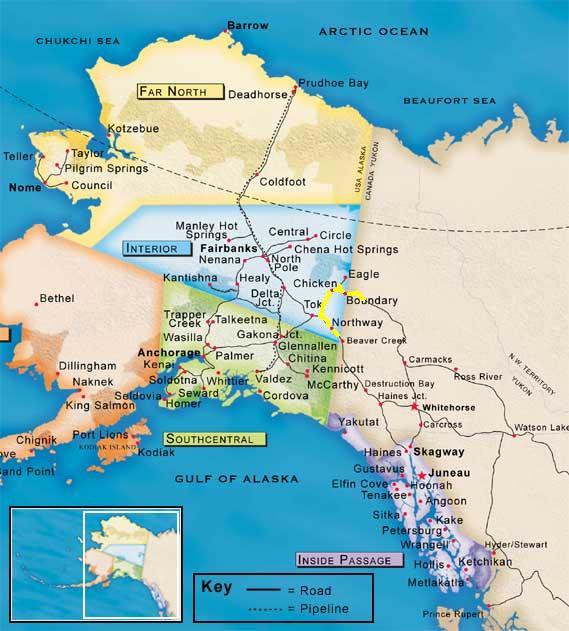 Map Skagway Alaska Dawson
