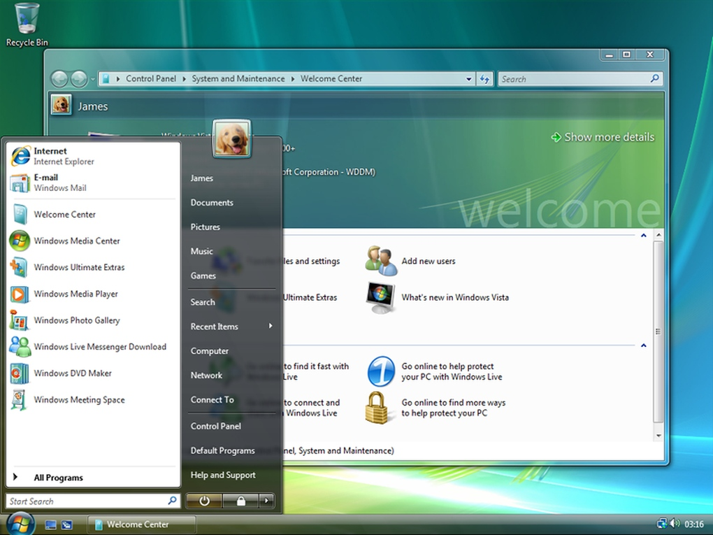 Windows Vista (العام 2007) - استغرقت مايكروسوفت 6 سنوات لتطوير ويندوز فيستا .. وبالرغم من أنه قدم خصائص ومزايا جديدة وتحسينات كبيرة على واجهة الاستخدام، إلا أنه أيضاً لاقى الكثير من الانتقادات، بسبب عدم دعمه لعدد كبير من العتاد القديم.