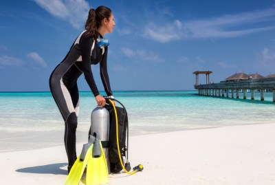 Diver with Scuba Tank