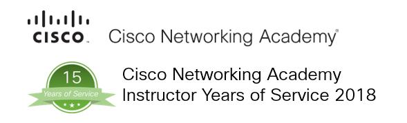 Die Cisco Networking Academy ehrte unsere stellvertretende Schulleiterin Melanie Falck gerade für 15 Jahre aktive Mitarbeit im Netzwerk.
