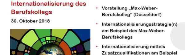 Das Max-Weber-Berufskolleg als Vorbild für Internationalisierung des Berufskollegs