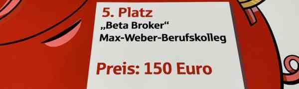 Erfolgreicher 5. Platz beim Planspiel Börse für Schüler des MWBK