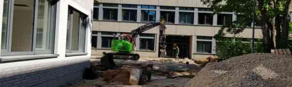 Am MWBK wird modernisiert und gebaut - OB Geisel schaut sich um