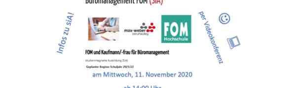 Einladung zur Infoveranstaltung: Kaufmann/frau für Büromanagement mit integriertem Bachelor-Studium Business Administration