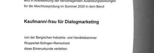 In mehrfacher Hinsicht besonders-Auszeichnung für Dialogmarketing am #MWBK