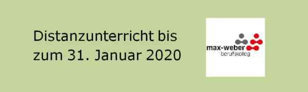 Distanzlernen bis zum 31. Januar 2021 - Corona-Update vom 07.01.2021