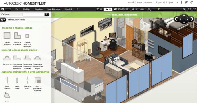 Progettare La Casa Online Gratis Arredare Lappartamento