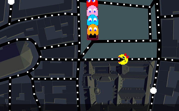 Google Maps - Ms. Pac Man - April Fools Day