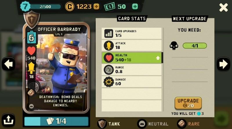 South Park - Phone Destroyer - Upgrade Card - Officer Barbrady