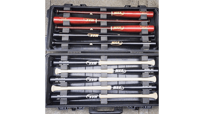 Wood Bats Protected in a bat case