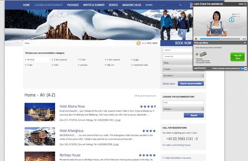 Lech-Zürsbietet persönliche Hilfe im Bereich Buchen und Suchen mit vee24 mittels vee24-Text-Chat for Tourism.