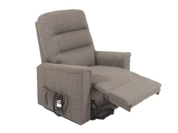 Riser Recliner - Duke Quartz - Grey - footrest raised