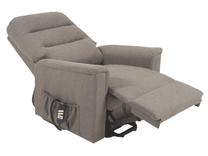 Riser Recliner - Duke Quartz - Grey - reclined