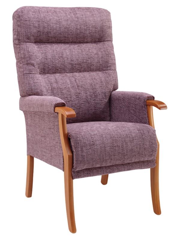 Day Chair - Orwell - Kilburn - Plum + Light Oak