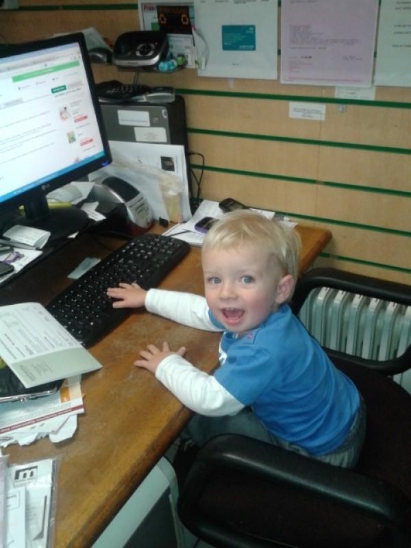 Max at work September 2013